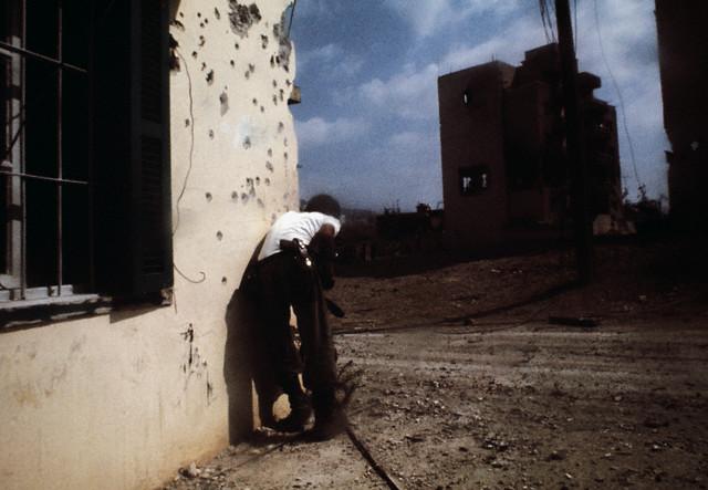 Août 1976 - Combattant phalangiste durant le siège de Tall el-Zaatar