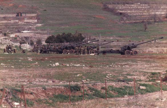 Artillerie des Forces Libanaises en action