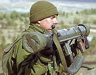 Lance-Roquettes antichars M-2 en dotation au sein des Forces Libanaises